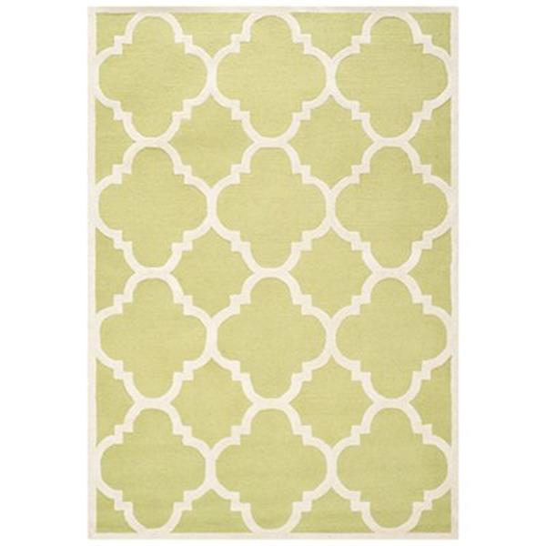 Safavieh Cambridge Green and Ivory Area Rug,CAM140T-8SQ