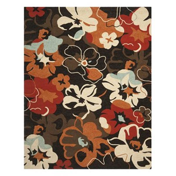 Safavieh FRS228A Four Seasons Area Rug, Black / Orange,FRS22