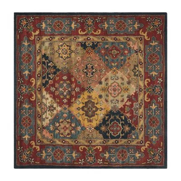 Safavieh Heritage Red and Multi-Colored Area Rug,HG926A-8SQ