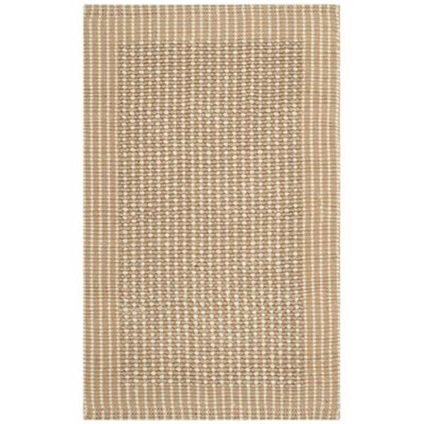 Safavieh Natural Fiber Ivory and Beige Area Rug,NF449A-1115