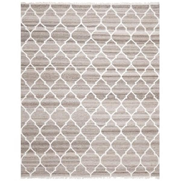 Safavieh NKM317A Natural Kilim Area Rug, Light Grey / Ivory,
