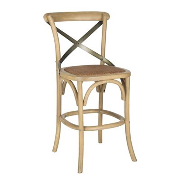 Safavieh Eleanor 19.70-in x 38.60-in Brown/Tan Stool