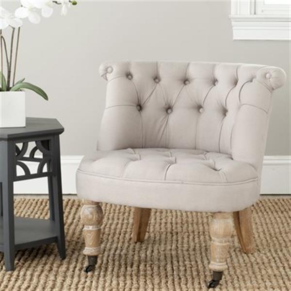 Safavieh Brown Mercer Carlin Tufted Chair