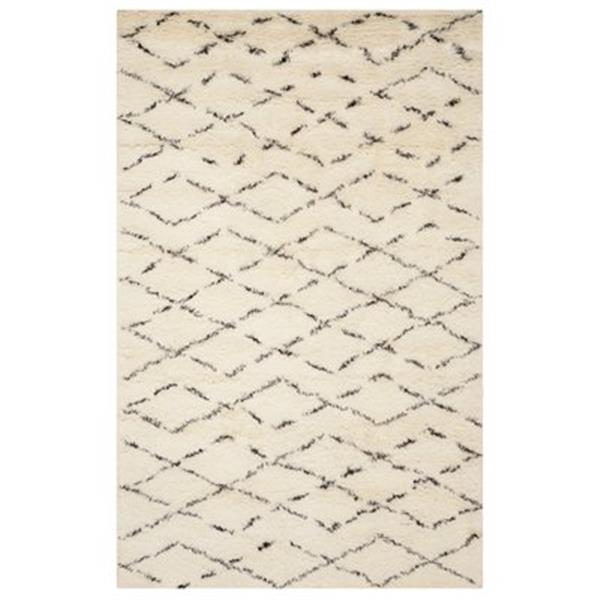 Safavieh CSB847A Casablanca White and Brown Area Rug,CSB847A