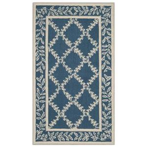 Safavieh Chelsea Navy and Creme Area Rug,HK230N-6
