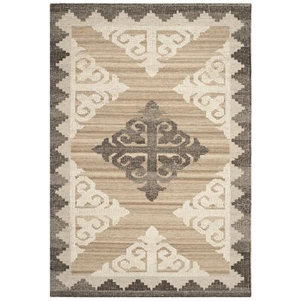Safavieh KNY312A Kenya Brown and Charcoal Area Rug,KNY312A-4