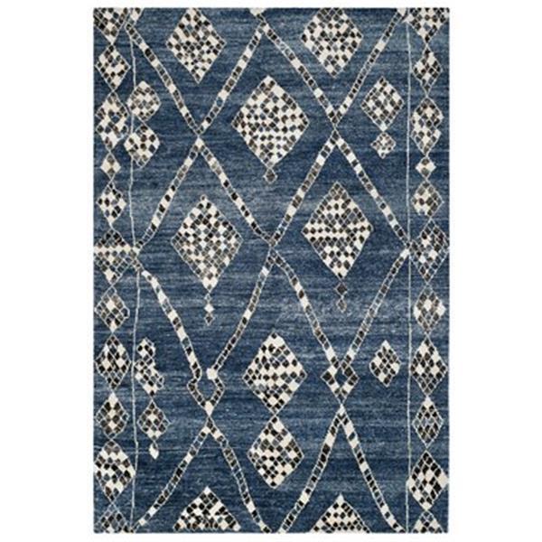 Safavieh MOR553B Moroccan Blue and Black Area Rug,MOR553B-6