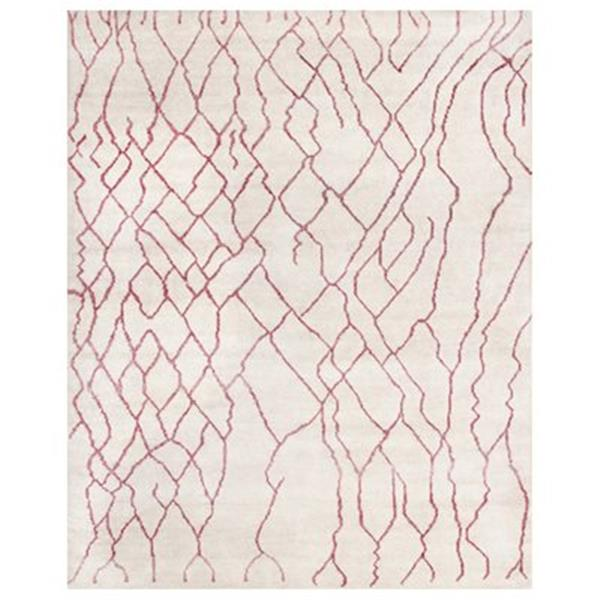 Safavieh MOR555A-9 Moroccan Ivory and Pink Area Rug,MOR555A-