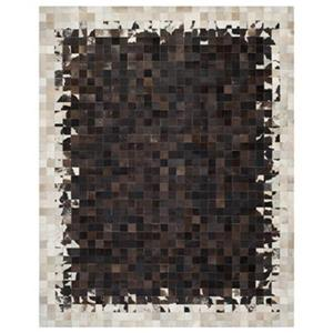Safavieh STL215B Studio Leather Ivory and Dark Brown Area Ru