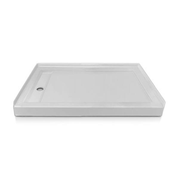 Valley COUTURELDST Prestige 72-in x 36-in White/Gloss Linear Drain Single Threshold Shower Base
