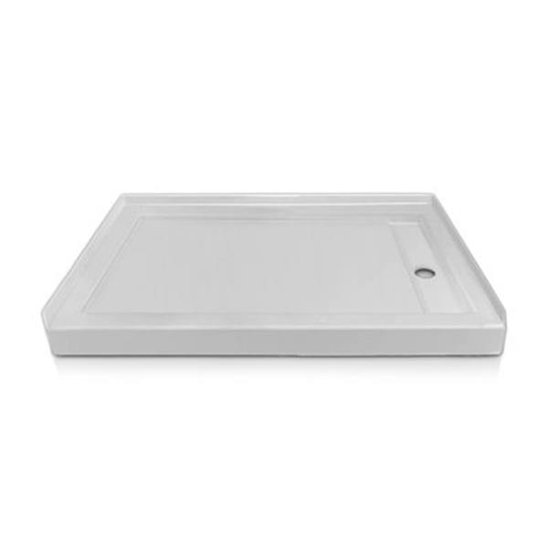 Valley COUTURELDST Prestige 72-in x 42-in White/Gloss Linear Drain Single Threshold Shower Base