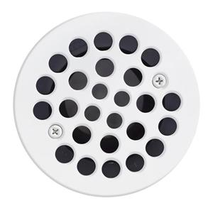 Valley Affordable Luxury 4.25-in White Shower Drain