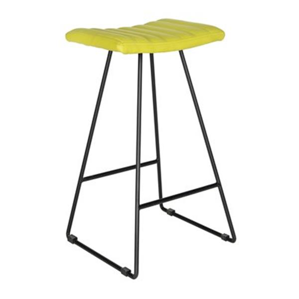 Safavieh Fox Akito 16.50-in x 30-in Green Faux-Leather Stainless Steel Bar Stools (Set of 2)
