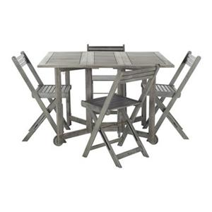 Safavieh Arvin Grey Wash 5-Piece Outdoor Dining Set
