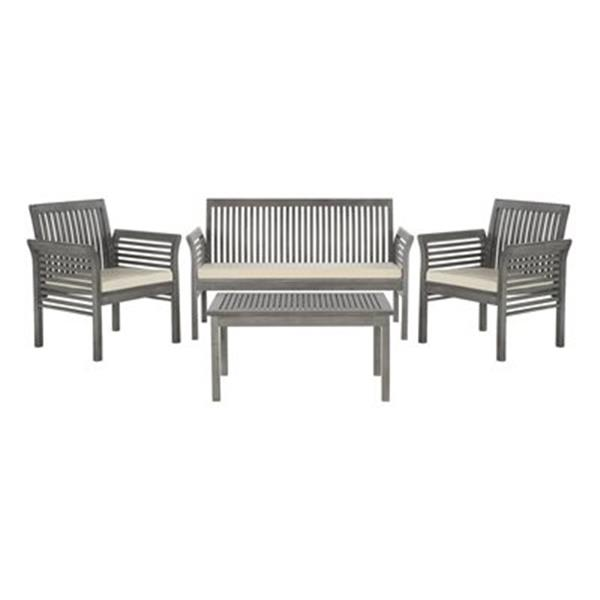 Safavieh Carson Brown 4-Piece Outdoor Conversation Set