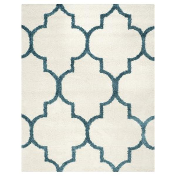 Safavieh Kids Shag Ivory and Blue Area Rug,SGK566C-8