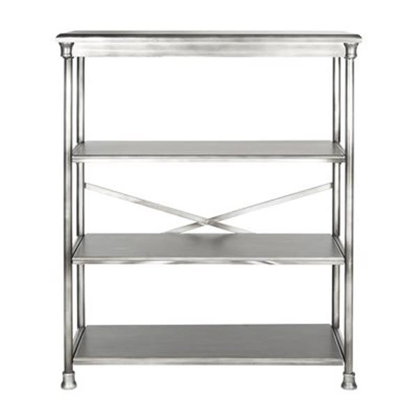 Safavieh American Home 32.5-in x 38.25-in Silver Jacinda Large Bookcase