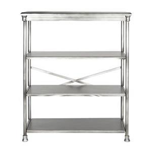 Safavieh American Home 32.5-in x 38.25-in Silver Jacinda Large Bookcase