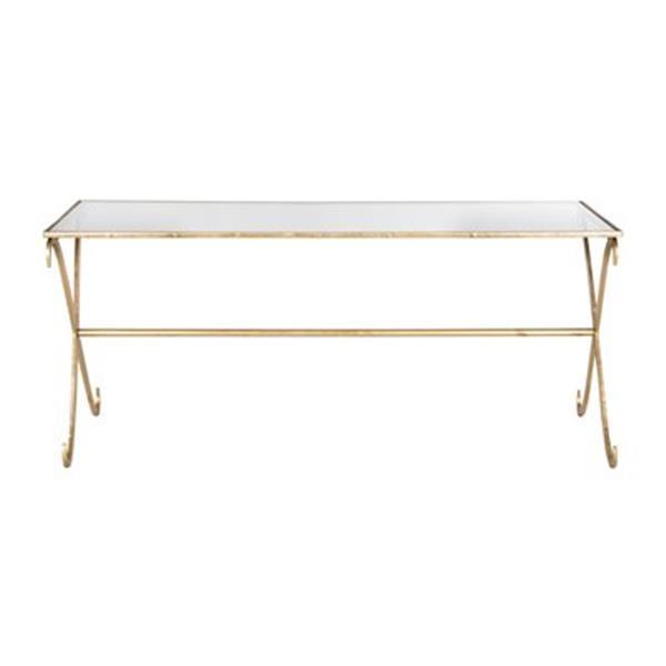 Safavieh FOX2551A Fox Gold/Clear Lavar Coffee Table,FOX2551A