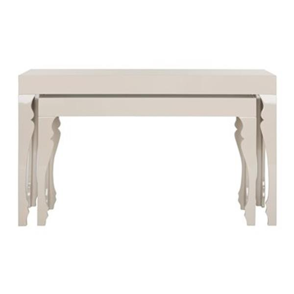 Safavieh Fox Beth Taupe MDF Rectantular Stacking Console Tables