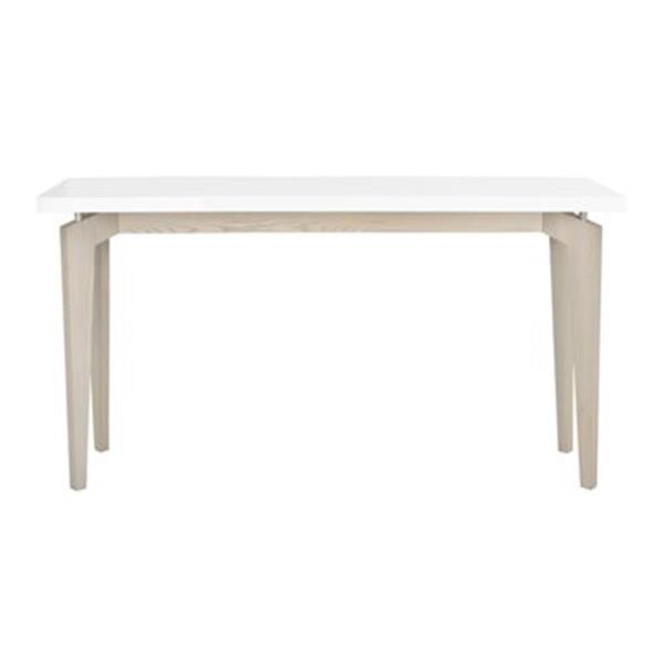 Safavieh Fox Josef Fox Rectangular White/Grey MDF Console Table