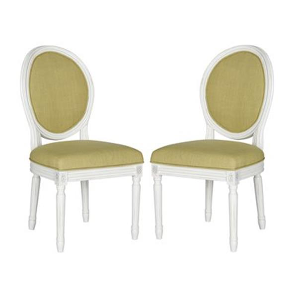 Safavieh Fox 19.75-in Spring Green Holloway Oval Side Chairs (Set of 2)