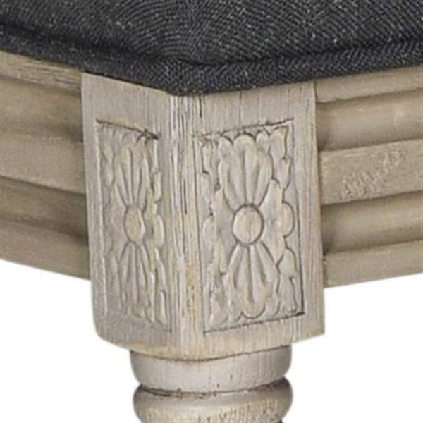Safavieh Fox Buchanan 19.75-in Charcoal Linen Rectangular Side Chairs (Set of 2)