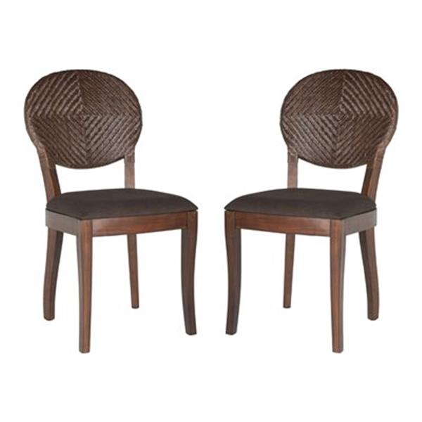 Safavieh Southeast Asia 17-in Brown Prisco Side Chairs (Set of 2)