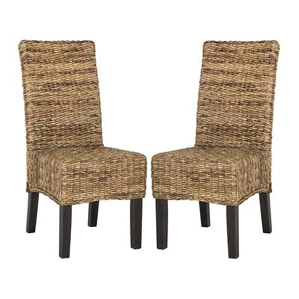 Safavieh Southeast Asia Natural Avita 18 50 In Natural Wicker Dining Chairs Set Of 2 Sea8012a Set2 Rona