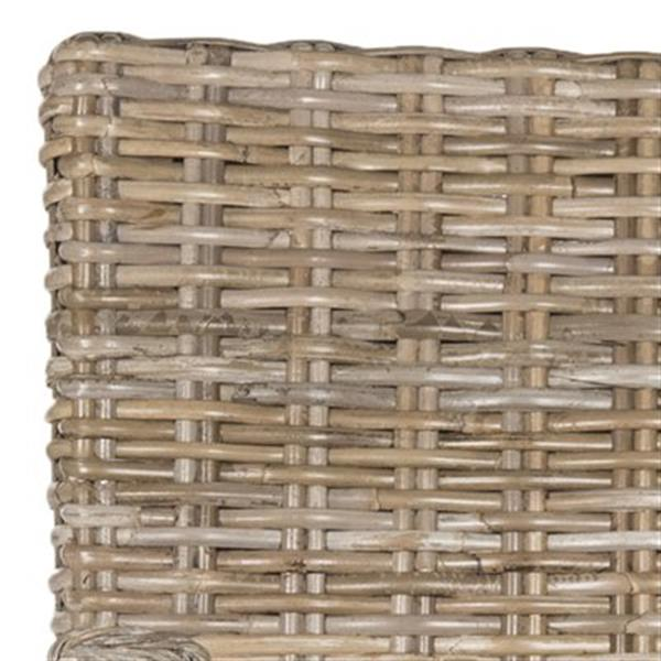 Safavieh Southeast Asia Armando 17.70-in Natural Wicker Dining Chairs (Set of 2)