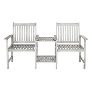 Safavieh Brea 35.4-in x 65-in Grey Twin Seat Bench