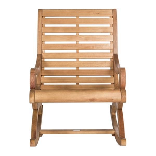 Safavieh 37-in x 25.2-in Teak Sonora Rocking Chair