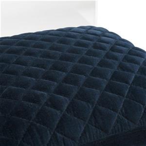 Safavieh Couture Irene 15-in x 38-in  Blue Velvet Acrylic Barstool