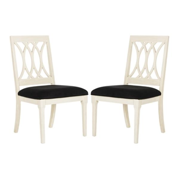 Safavieh 38.25-in Antique White Selena Side Chairs (Set of 2)