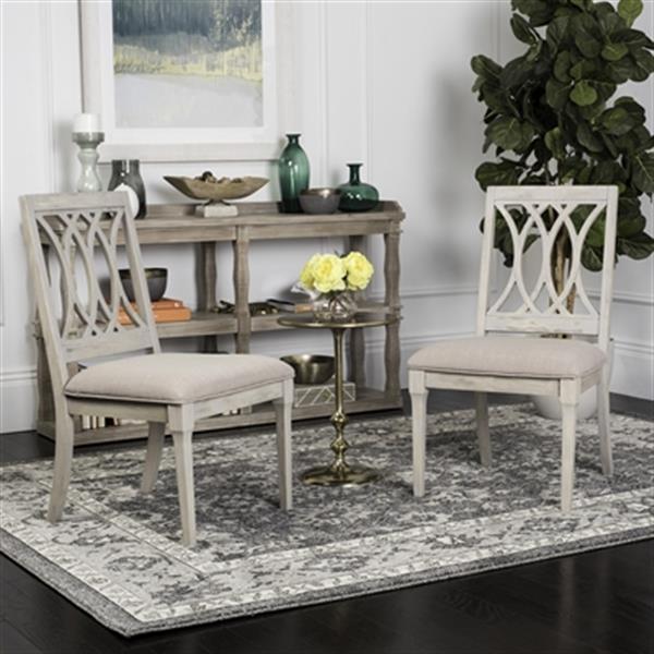 Safavieh 38.25-in Rusitc Grey Selena Side Chairs (Set of 2)