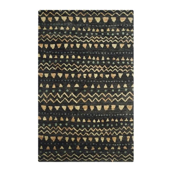 Safavieh BOH653A Bohemian Hand-Knotted Black and Gold Area R