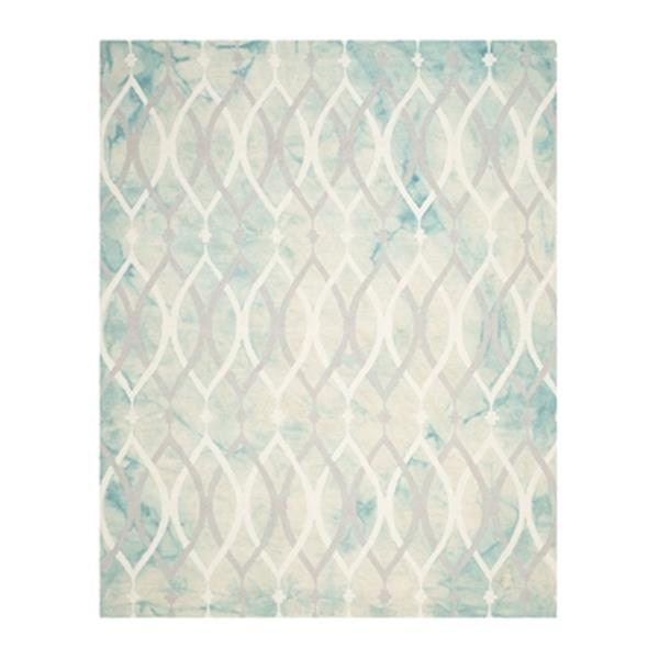 Safavieh Dip Dye Hand-Tufted Wool Green and Ivory Grey Area