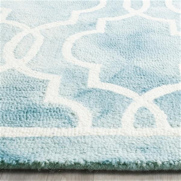 Safavieh Dip Dye Hand-Tufted Wool Turquoise and Ivory Area R