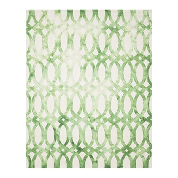 Safavieh Dip Dye Hand-Tufted Wool Ivory and Green Area Rug,D