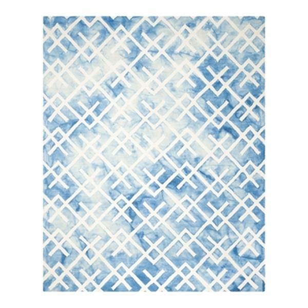 Safavieh Dip Dye Hand-Tufted Wool Blue and Ivory Area Rug,DD