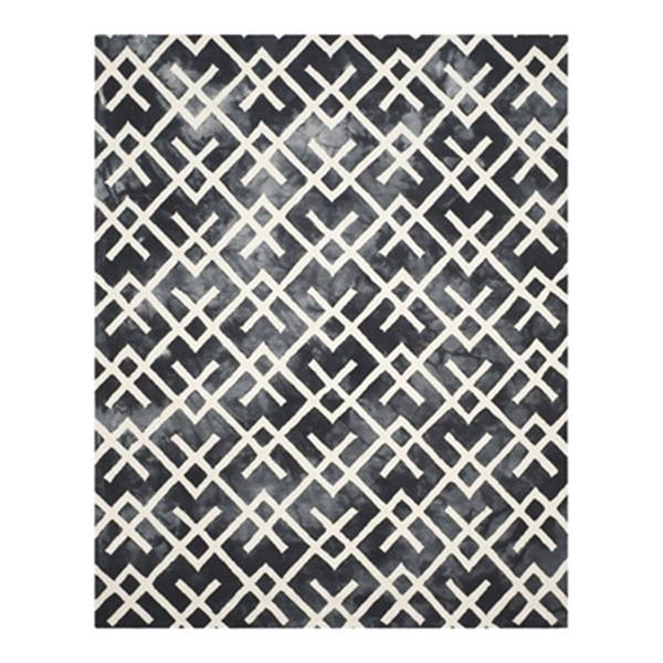 Safavieh Dip Dye Hand-Tufted Wool Graphite and Ivory Area Ru
