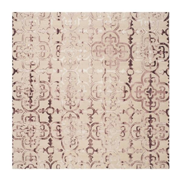 Safavieh Dip Dye Hand-Tufted Wool Beige and Maroon Area Rug,
