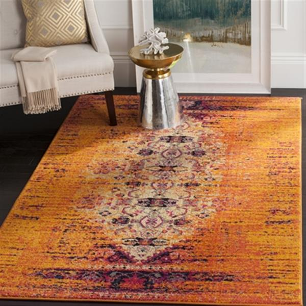 Safavieh Monaco Orange Multicolor Area Rug,MNC209H-10