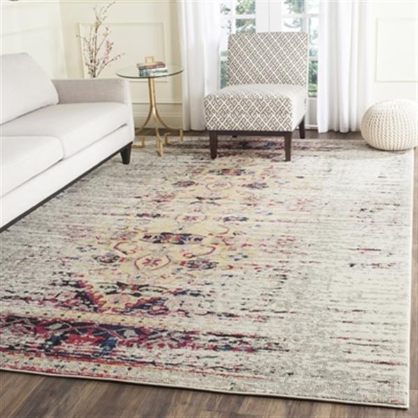 Safavieh Monaco Ivory and Pink Area Rug,MNC209R-8