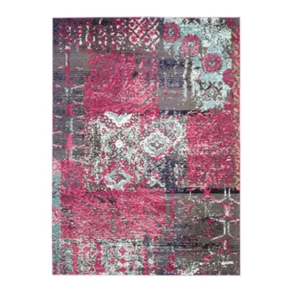 Safavieh Monaco Pink Multicolor Area Rug,MNC210D-8