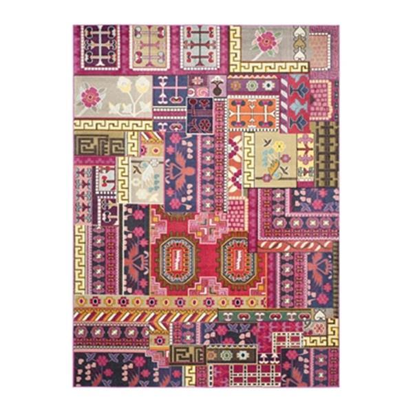 Safavieh Monaco Pink Multicolor Area Rug,MNC212D-8