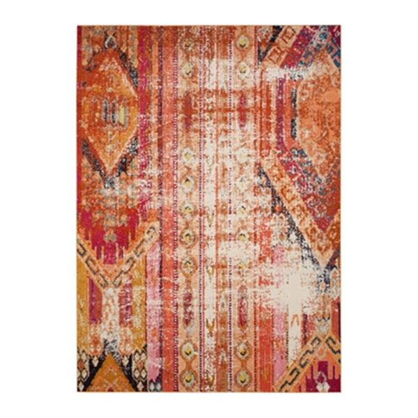 Safavieh Monaco Orange Multicolor Area Rug,MNC222H-8