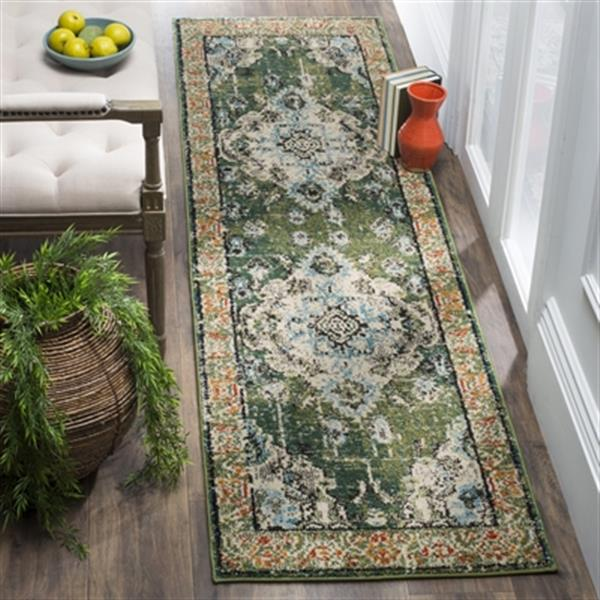 Safavieh Monaco Forest Green and Light Blue Area Rug,MNC243F