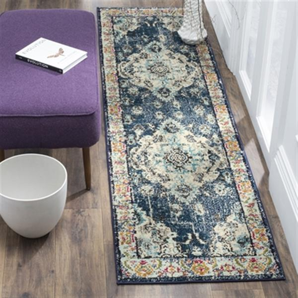 Safavieh Monaco Navy and Light Blue Area Rug,MNC243N-810