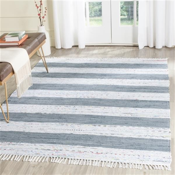 Safavieh Montauk Flat Weave Ivory and Grey Area Rug,MTK720A-
